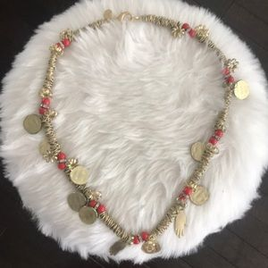 Mango gold statement necklace